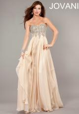 Jovani 1560.  Available in Blue, Nude