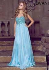 Jovani 1560.  Available in Blue, Coral, Nude, Red