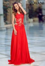 2014 Jovani Sheer Bodice Prom Dress 79034
