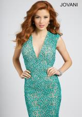 Jovani 99427.  Available in Teal/Nude