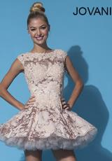 Jovani Cocktail 88259.  Available in Blush, Light Blue