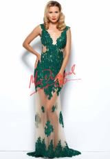 MacDuggal 61844R.  Available in Emerald/Nude