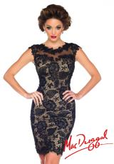MacDuggal Cocktail 61413R.  Available in Black/Nude, Platinum/Nude