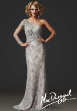 MacDuggal Couture 78825D.  Available in Silver/Nude