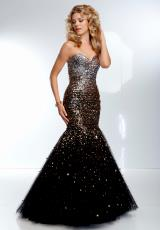 Mori Lee 95127.  Available in Blk/Bronze, Blk/Fuchsia, Blk/Purple, Blk/Turquoise