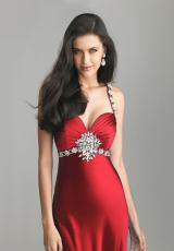 2013 Satin Red Night Moves Prom Dress 6692