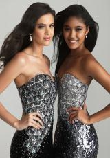 2013 Night Moves Form Fitted Prom Dress 6696