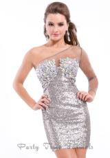 Party Time Formals 6328.  Available in Gunmetal