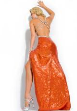 Party Time Dresses 6032.  Available in Burnt Orange, Silver, Turquoise