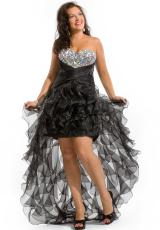 2013 Party Time Ruffled Skirt Gown 6252