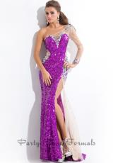 Party Time Dresses 6540.  Available in Purple/Nude, Turquoise/Nude