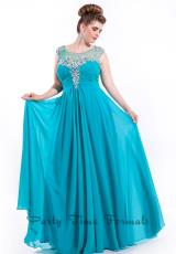Party Time Formals 6626.  Available in Aqua, Red, Teal