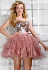 2013 Party Time Short Fitted Bodice Gown 6868