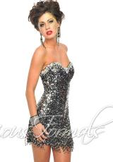 Precious Formals C10505.  Available in Blk/Silver