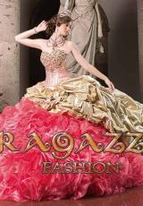 Ragazza A80-280.  Available in Aqua, Coral, Coral/Gold, Emerald Green, Fuchsia, Gold, Ivory, Jade, Nude, Purple, Red, Turquoise, Violet