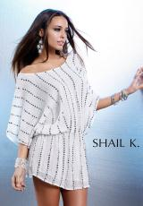 Shail K. KK3149.  Available in Black/Silver, Ivory/Silver