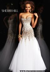 2013 Sherri Hill Fitted Torso Prom Dress 21108