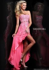 Sherri Hill 8503.  Available in Coral, Fuchsia, Peach, Pink