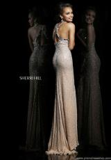 Sherri Hill 11095.  Available in Nude/Silver