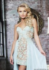 2014 Sherri Hill Chiffon Overlay Prom Dress 11143