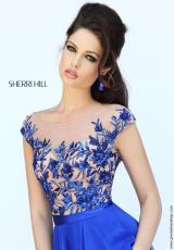 Sherri Hill 11214.  Available in Black, Blush, Emerald, Ivory, Nude, Royal