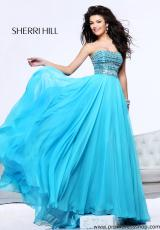 1539 Strapless Long Sherri Hill 2013 Prom Dress