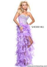 Sherri Hill 1543.  Available in Coral, Lilac, White, Yellow