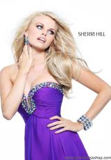Sherri Hill 21097.  Available in Aqua, Ivory, Orange, Pink, Purple, Watermelon, Yellow