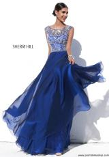 Sherri Hill 32017.  Available in Black, Ivory, Light Blue, Light Green, Light Yellow, Navy, Nude, Periwinkle, Pink, Purple, Teal, Wine