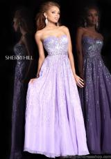 Empire Flowy Sherri Hill 8437 Prom Dress 2013