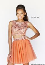 Sherri Hill Short 11061.  Available in Emerald, Green, Light Blue, Navy, Orange