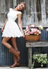 Sherri Hill Short 32257.  Available in Ivory/Nude