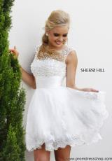 Sherri Hill Short 4302.  Available in White