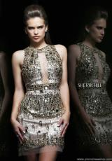 Sherri Hill Short 9703.  Available in Gold