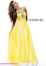 Sherri Hill 2875.  Available in Strawberry, Yellow