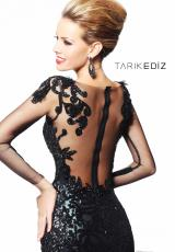 Sheer Long Sleeve Tarik Ediz Prom Dress 92105
