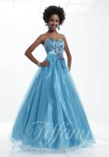 2013 Long Tulle Tiffany Prom Dress 16742