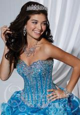 Tiffany Quinceanera 26740.  Available in Fuchsia/Silver, Turquoise/Silver