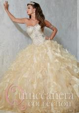 Tiffany Quinceanera 26787.  Available in Gold, Red