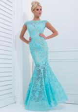 Tony Bowls Evenings TBE11405.  Available in Aqua, Black/Nude, Ivory/Nude, Navy/Nude, Red/Nude