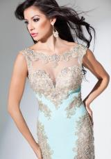 Tony Bowls Evenings TBE11513.  Available in Aqua/Gold, Champagne