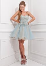 Tony Bowls Shorts TS21458.  Available in Light Blue/Champagne, Pink/Champagne, White/Champagne