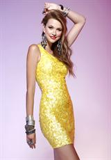 2013 Scala One shoulder Beaded  Prom Dress Q4109