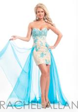 Rachel Allan 6830.  Available in Aqua/Nude, Lilac/Nude