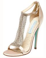 Betsey Johnson Sb-Mesh.  Available in Champagne Satin, Silver Satin