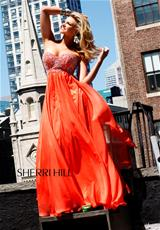 Sherri Hill 3802.  Available in Aqua, Orange, White