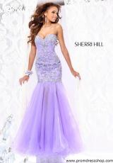 Sherri Hill 2974.  Available in Hot Pink/Silver, White/Silver, Yellow/Silver