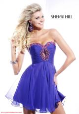 Sherri Hill Short 2944.  Available in Aqua/Light Green, Black, Candy Pink, Coral, Emerald, Fuchsia, Light Green, Neon Lime, Neon Orange, Neon Pink, Nude, Orange, Purple, Royal, Teal, Turquoise, White/Multi