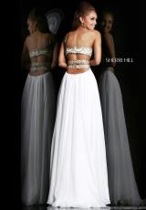 Sherri Hill 11088.  Available in Aqua/Gold, Coral/Gold, Ivory/Gold