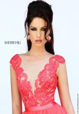 Sherri Hill 11269.  Available in Aqua, Coral, Light Blue, Orchid, Pink, Silver